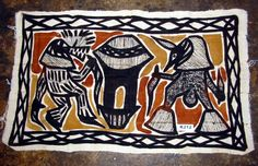 Check out these Korhogo Cloths made by the South African Senoufo Tribe! African Culture, African Art, Teaching Art, Teaching Ideas, 2nd Grade Art, Textile Texture, Traditional Clothes, African Fabric, Deco
