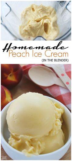 Homemade Peach Ice Cream in the Blender! DIY Ice Cream Recipe!