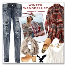 """""""Winter Wanderlust with American Eagle: Contest Entry"""" by kellylynne68 ❤ liked on Polyvore featuring American Eagle Outfitters, americaneagle and aeostyle"""