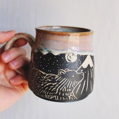 New Painting Ideas Pottery Coffee Mugs 24 Ideas Sgraffito, Pottery Mugs, Ceramic Pottery, Pottery Ideas, Pottery Designs, Ceramic Cups, Ceramic Art, Cerámica Ideas, Decor Ideas