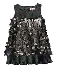 Love this Black Indie Sequin Dress - Toddler & Girls by Mini Treasure Kids on #zulily! #zulilyfinds