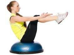 10 Full Body BOSU Ball Exercises-From mountain climbers to push-ups, build core strength and burn calories with these 10 moves that are all done on the BOSU ball. Bosu Workout, Workout Songs, Workout Routines, Workout Ideas, Cardio, Bosu Ball, Excercise, Exercise Ball, Physical Exercise