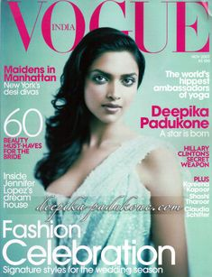 Deepika Padukone. Vogue India November 2007.