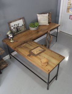Pottery Barn inspired desk DIY Office makeover Desks and Woods