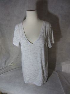 Victoria's Secret Pink V-Neck Short Sleeve Sleepwear White T-Shirt Size Lager  | eBay