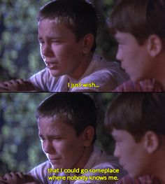 Stand By Me-when I watch this scene I just want to jump into the tv and hug River and then I cry wow how relatable Home Movie Quotes, Home Movies, Film Quotes, 80s Movies, Stand By Me, Movies Showing, Movies And Tv Shows, River Phoenix, Movie Lines