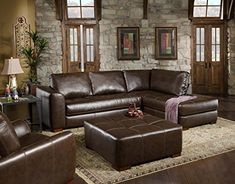 Chelsea Home Furniture Fairfax 2Piece Sectional Capri Dark Brown >>> Click image for more details.Note:It is affiliate link to Amazon.