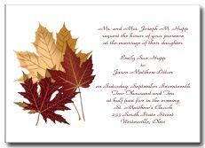 Invitation By Tbeale88 On Pinterest Fall Wedding Invitations Invitations A