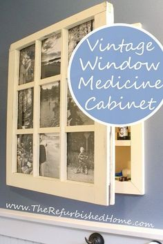 Turn an old window into extra bathroom storage space with this great tutorial from http://www.TheRefurbishedHome.com