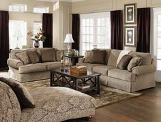 Modern Interior Design Decorating Ideas Grey Fabric Living Room Sofa Set With White Shade Table Lamps Also Fabric Chaise Lounge Couch On Wood Floors As Cool Traditional Interior Design Ideas Tips And Trick Elegant Living Room Shade Design Ideas