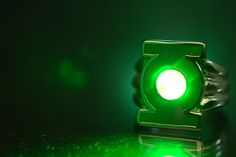 Green Lantern's Power Ring. Straight out of the camera. Light effect achieved with a green laser.