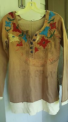 We the Free People Embroidered Vtg Insp Aesthetic worn in look & feel MINT LKNU