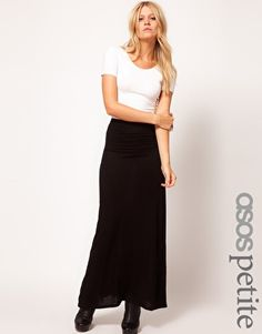 Enlarge ASOS PETITE Maxi Skirt With Seam Detail