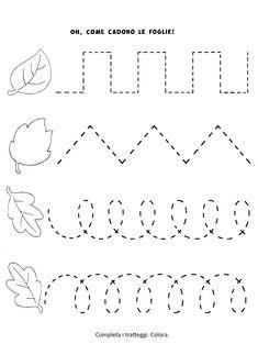 Preschool Tracing Pages Preschool Workbooks, Preschool Writing, Numbers Preschool, Toddler Learning Activities, Preschool Learning Activities, Homeschool Kindergarten, Autumn Activities, Kindergarten Worksheets, Teaching Kids