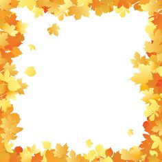 Fall Borders Clip Art | Autumn leaves frame in different color tints. Useful as ecard ...