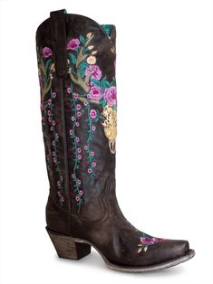 Corral Deer Skull Overlay Floral Custom Cowboy Boots, Cowboy And Cowgirl, Cowgirl Boots, Liberty Boots, Texas Fashion, Country Boots, Kids Boots, Boots Online, Cowgirls