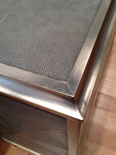 Gray Shagreen Coffee Table