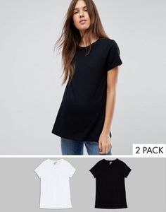 56b4fc4e99a59 ASOS DESIGN Maternity ultimate crew neck t-shirt 2 pack SAVE | ASOS Asos  Maternity