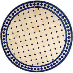 mosaikbord beige blå
