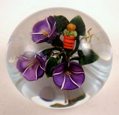 Ken Rosenfeld's Morning Glories with Bee Paperweight. Asking £240