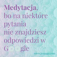 """Dziś jest dla mnie dzień """"niech mnie ktoś przytuli!"""". Pogoda pełnia spadek formy korki na drodze wszystko razem i już nie wiadomo co robić i jak sobie z tym radzić. Pytać google? A może jednak nie.  #medytacja #google #motywacyjnie #motywacja #jeeyoga #positivevibes #joga #yoga #wakacjezjogą #wyjazdyzjogą #pytania #poniedziałek #jakżyć #ocochodzi"""