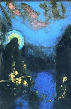 Odilon Redon - The Boat (Virgin with Corona)