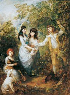 Thomas Gainsborough (English, 1727-1788). The Marsham Children, 1787.