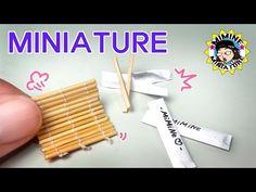 미니어쳐 김발 & 나무 젓가락 만들기 Miniature - Bamboo mat & wooden chopsticks / 미미네 미니어쳐 - YouTube