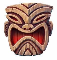 Here is another digital image from the package I sent to the west coast rep. Ko Lanta, Survivor Party, Harry Potter Font, Tiki Head, Blog Art, Tiki Statues, Tiki Totem, Tiki Lounge, Tiki Art