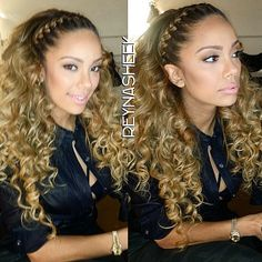 Erica Mena Braided Front Blonde Curly Hot Fashion