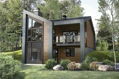 Plan 80968PM: 3 Bed Modern Mountain Home Plan For Sloped Lot