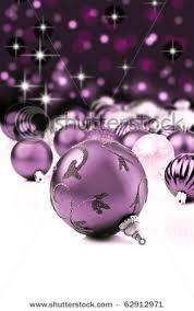 the purple christmas ornaments are always the ones left on sale after the holidays - love it!!!