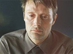 I love seeing Mads so sensitive and crying. He just looks sexy and intriguing. Does he have unattractive moments? Of course but I won't post them. RF