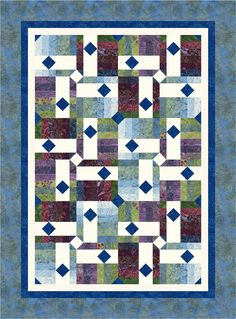 Drop Diamonds pattern from Cozy Quilt Designs featuring Tonga Zen fabrics by Daniela Stout. Download the pattern pdf from Timeless Treasures here.