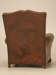 French Deco Leather Moustache Back Club Chair | From a unique collection of antique and modern club chairs at https://www.1stdibs.com/furniture/seating/club-chairs/