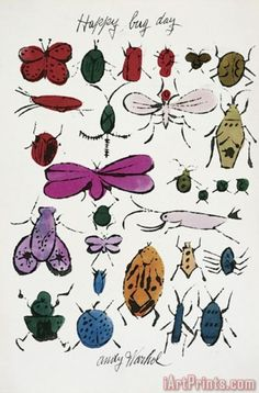 Happy Bug Day C 1954 Painting by Andy Warhol