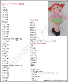 Amigurumi Aşkına Örgü Oyuncaklarım: Amigurumi Büyük Safiş Bebek Yapılışı-Amigurumi Free Pattern Doll