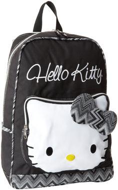 Amazon.co.jp: ハローキティ [Hello Kitty] ハローキティ ブラック&ホワイト フェイス バックパック kids Die Cut Face Backpack Black, One Size 【並行輸入品】: 服&ファッション小物