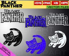Black Panther SVG PNG EPS 3 files Marvel Black Panther Wakanda
