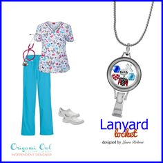 Lanyard lockets! Perfect for an RN, teacher, etc.  <--Shop now and create your own personal Lanyard Locket!