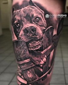 """Currito"" el American Bully de Tercer premio a la mejor obra del domingo en la Wicked Tattoos, Badass Tattoos, Body Art Tattoos, Print Tattoos, Tattoos For Guys, Sleeve Tattoos, Calf Tattoo, Tattoo On, Tattoo Pics"