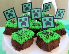 Cake at a Minecraft Party #minecraft #partycake