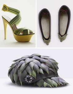 exotic pieces of fashion made entirely with food.