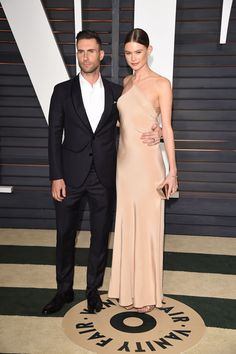 Adam Levine & Behati Prinsloo - Oscars 2015 #afterparty
