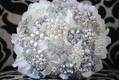Petal Brooch Bouquet by nicolasacicero on Etsy, $110.00