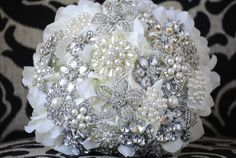 Petal Brooch Bouquet by nicolasacicero on Etsy, $110.00