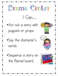 Doing an I can... chart for the centers so they know what they can do.