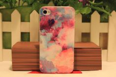 Fancy Pink Space Case for iPhone 4