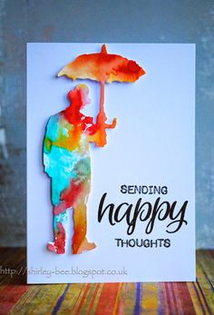 Tim Holtz die, swooshed it through some spritzed Distress Inks. , shirley-bee's stamping stuff: