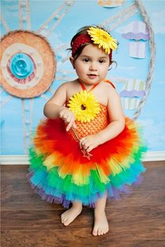 Rainbow Tutu Dress Over the Rainbow Rainbow by willowlaneboutiques, $45.00